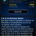 Twitter para BlackBerry v2.0.0.16 disponible para descargar en la App World