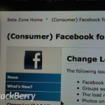 Facebook para BlackBerry actualizado a la versión 3.1.0.16 en la BlackBerry Beta Zone