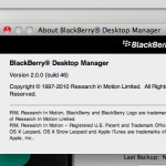 Blackberry Desktop Manager 2 para Mac OS