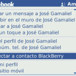 Como sincronizar los contactos de tu blackberry con facebook