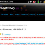 BlackBerry Messenger Beta v5.0.3.13 disponible en la BlackBerry Beta Zone