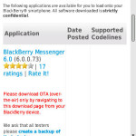 Disponible BlackBerry Messenger 6.0.0.73 en la Beta Zone