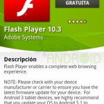 Flash 10.3 para Android disponible en la Android Market