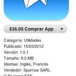 Sparrow para iOS disponible en la App Store