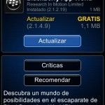 BlackBerry App World actualizada a v2.1.4.9